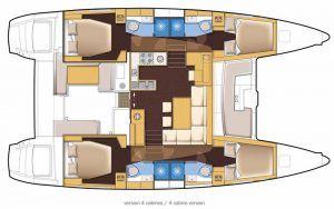 Plan Lagoon 450 - Sail Paradise