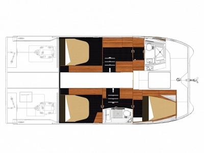 Plan My37 - Sail Paradise - Croisières aux Antilles