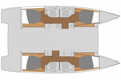 Plan intérieur Astréa 42 - Sail Paradise